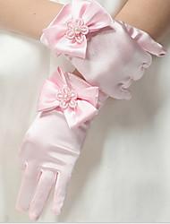 Недорогие -Дети (1-4 лет) Девочки Однотонный Перчатки