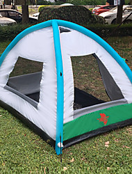 abordables -3 personnes De plein air TENTE DE CAMPING AIR SECONDES Poids Léger Etanche Respirabilité Résistant aux UV Automatique Une pièce Double couche 1500-2000 mm Tente de camping pour Pêche Plage Camping