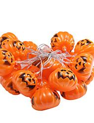 Недорогие -Хэллоуин тыквы черепа строки огни с 16 светодиодные бусины висит тыквенные фонари 220В атмосферу лампа теплый свет (1 шт)