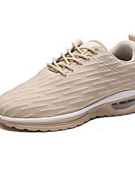 abordables -Homme Chaussures de confort Maille Automne Sportif Chaussures d'Athlétisme Marche Augmenter la hauteur Noir et blanc / Noir / Rouge / Kaki / Athlétique