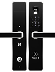 billige -PINEWORLD Q303 Intelligent Lås Smart Home Security System Tyverialarm / Fingeraftryk låse op / Adgangskode låse op Husholdning / Hjem / Hjem / kontor Sikkerhedsdør / Kobberdør / Wooden Door