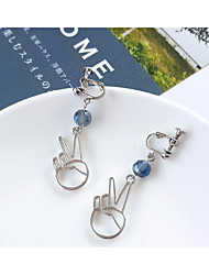 cheap -Women's Stylish / Hollow Out Drop Earrings / Dangle Earrings - Resin Star, Face Stylish, Sweet, Elegant Silver / Gray / Royal Blue For Birthday / Gift