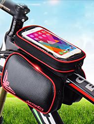 abordables -Sac de téléphone portable / Sacoche de Guidon de Vélo 6.2 pouce Ecran tactile, Etanche, Réfléchissant Cyclisme pour Cyclisme Vert