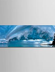 Недорогие -С картинкой Роликовые холсты - Пейзаж / Фото Modern