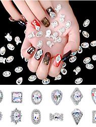baratos -1 pcs Jóias de Unhas Strass Melhor qualidade Criativo arte de unha Manicure e pedicure Diário Geométrico