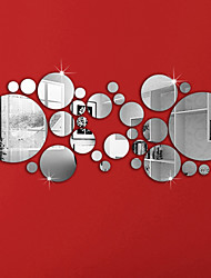 Недорогие -Декоративные наклейки на стены - Зеркальные стикеры Геометрия Гостиная / Спальня / Ванная комната