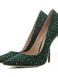baratos -Mulheres Sapatos Com Transparência Primavera Conforto Saltos Salto Agulha Preto / Verde / Vinho