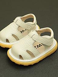 Недорогие -Мальчики / Девочки Обувь Кожа Лето Обувь для малышей Сандалии На липучках для Дети Белый / Желтый / Розовый
