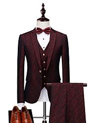 cheap -Men's Business Suits-Print,Jacquard