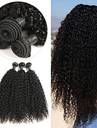 tanie -3 zestawy Włosy indyjskie Jerry Curl 8A Włosy naturalne Doczepy z naturalnych włosów 8-24 in Ludzkie włosy wyplata Cosplay Najwyższa jakość Nowości Ludzkich włosów rozszerzeniach Damskie
