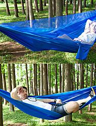 economico -Amaca con zanzariera da campeggio Esterno Leggero, Traspirabilità Nylon per Escursionismo / Campeggio / Viaggi - 2 persone Nero / Verde