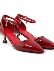 Недорогие -Жен. Наппа Leather Весна Туфли лодочки Обувь на каблуках На шпильке Черный / Светло-Зеленый / Вино / Повседневные