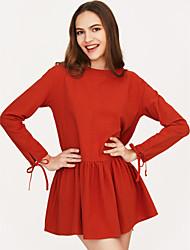 cheap -Women's Going out Loose Little Black Dress High Waist / Spring / Fall