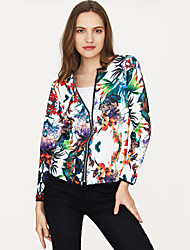 cheap -Women's Street chic Jacket - Floral, Print