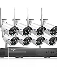 cheap -Hiseeu® 1080P Wireless CCTV System HDD 2MP 4CH Powerful NVR IP IR-CUT  CCTV Camera IP Security System Surveillance Kits