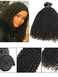 tanie -3 zestawy Włosy brazylijskie Kinky Curl 8A Włosy naturalne Doczepy z naturalnych włosów 8-24 in Ludzkie włosy wyplata Najwyższa jakość Nowości Gorąca wyprzedaż Ludzkich włosów rozszerzeniach Damskie