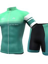 economico -INBIKE Per uomo Manica corta Maglia con pantaloncini da ciclismo - Verde Menta Bicicletta Pantaloncini / Cosciali / Maglietta / Maglia / Set di vestiti, Asciugatura rapida, Traspirante Elastene