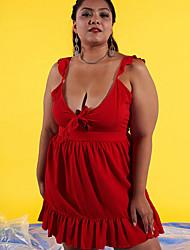 cheap -Women's Basic Loose Sheath Dress Strap / Fall