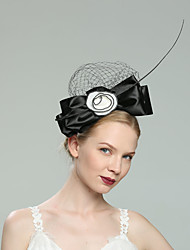 cheap -Flax Fascinators with Floral 1pc Wedding / Special Occasion Headpiece
