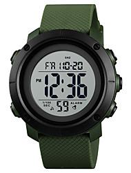 Недорогие -SKMEI Муж. Спортивные часы Армейские часы Японский Цифровой 30 m Защита от влаги Будильник Календарь PU Группа Цифровой На каждый день Мода Черный / Зеленый - Черный / зеленый Зеленый Черный / Белый