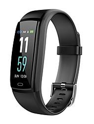 billige -Smart Armbånd JSBP-Y9 for Android iOS Bluetooth Sport Vandtæt Pulsmåler Blodtryksmåling Touch-skærm Stopur Skridtæller Samtalepåmindelse Aktivitetstracker / Brændte kalorier / Sleeptracker / Vækkeur