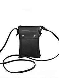 Недорогие -Жен. Мешки PU Мобильный телефон сумка Молнии Черный / Розовый / Коричневый