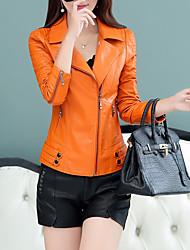 Недорогие -Жен. Кожаные куртки Уличный стиль - Современный стиль