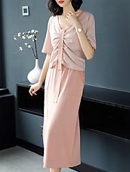Недорогие -Жен. Активный / Классический Блуза Платья Однотонный