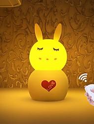 cheap -JIAWEN 1pc Rabbit Nursery Night Light / Smart Night Light White / Yellow USB For Children / Dimmable / Lovely 5 V