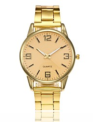 cheap -Women's Dress Watch Wrist Watch Quartz New Design Casual Watch Large Dial Alloy Band Analog Fashion Minimalist Silver / Gold / Rose Gold - Gold Silver Rose Gold One Year Battery Life