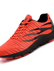 Недорогие -Муж. Комфортная обувь Сетка Осень Спортивная обувь Для прогулок Черный / Оранжевый и черный