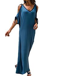 preiswerte -Damen Grundlegend Etuikleid Kleid Solide Maxi