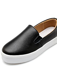 cheap -Women's Comfort Shoes Cowhide Spring & Summer Loafers & Slip-Ons Platform White / Black