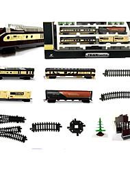 Недорогие -Игрушечные поезда и наборы Поезд Шлейф Мерцание моделирование утонченный Пластиковые & Металл Дети Все Мальчики Девочки Игрушки Подарок 1 pcs