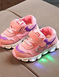 billiga -Pojkar / Flickor Skor PU Höst vinter Komfort / Lysande skor Oxfordskor Snörning / Krok och ögla / LED för Barn / Småbarn Blå / Rosa