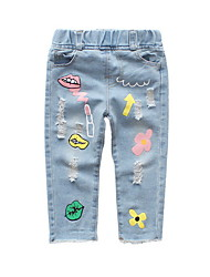 cheap -Baby Girls' Basic Solid Colored Jeans / Toddler