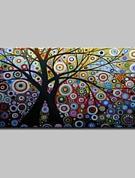 billiga -Hang målad oljemålning HANDMÅLAD - Abstrakt / Blommig / Botanisk Klassisk / Moderna Utan innerram / Valsad duk