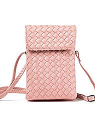 abordables -Femme Sacs PU Mobile Bag Phone Fermeture Gris clair / Argent / Vin