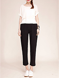 cheap -Women's Cotton Slim Harem / Chinos Pants - Solid Colored / Spring / Fall