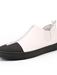 abordables -Homme Chaussures de confort Faux Cuir Printemps / Automne Preppy Basket Bottine / Demi Botte Couleur Pleine Blanc / Noir / Gris