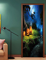 abordables -Pegatinas de puerta - Calcomanías 3D para Pared / Holiday pegatinas de pared Halloween / Floral / Botánico Habitación de bebés / Habitación de Niños