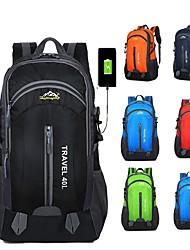 Недорогие -40 L Рюкзаки - Легкость, Дожденепроницаемый, Пригодно для носки На открытом воздухе Пешеходный туризм, Походы, Велоспорт Полиэстер Красный, Зеленый, Синий