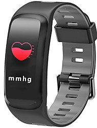baratos -Pulseira inteligente JSBP-F4PLUS para Android iOS Bluetooth Esportivo Impermeável Monitor de Batimento Cardíaco Medição de Pressão Sanguínea Tela de toque Podômetro Aviso de Chamada Monitor de