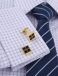 baratos -Forma Geométrica Dourado Botões de Punho Cobre / Liga Simples / Básico Homens Jóias de fantasia Para Festa / Presente