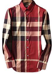 cheap -Women's Basic Shirt - Plaid Shirt Collar