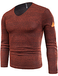 cheap -Men's Basic / Street chic Pullover - Solid Colored, Mesh