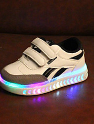 cheap -Boys' / Girls' Shoes PU(Polyurethane) Fall & Winter Comfort / Light Up Shoes Sneakers Hook & Loop / LED for Kids / Toddler White / Black