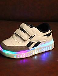 abordables -Garçon / Fille Chaussures Polyuréthane Automne hiver Confort / Chaussures Lumineuses Basket La boucle du crochet / LED pour Enfants / Bébé Blanc / Noir