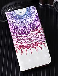 Недорогие -Кейс для Назначение Apple iPhone X / iPhone 8 Pluss / iPhone 8 Кошелек / Бумажник для карт / со стендом Чехол Мультипликация / Кружева Печать / Цветы Твердый Кожа PU