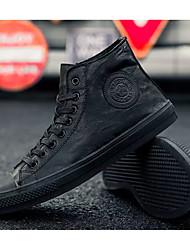 billige -Herre Komfort Sko Mikrofiber Forår / Efterår Afslappet Sneakers Wear Proof Sort / Grå